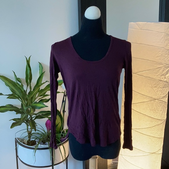 TALULA Deep Purple Long Sleeved Shirt